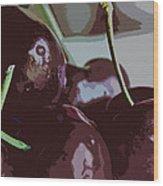 Cherries Abstract Wood Print