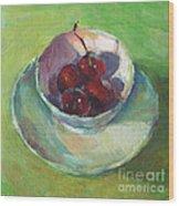 Cherries In A Cup #2 Wood Print