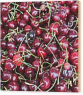 Cherries In Des Moines Washington Wood Print