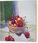 Cherries Wood Print by Irina Sztukowski