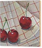 Cherry Talk By Irina Sztukowski Wood Print