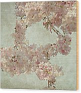 Cherry Blossom Bridal Bouquet Wood Print