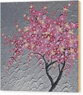 Cherry Blossom In Pink Wood Print