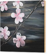 Cherry Blossom  Wood Print by Mark Moore