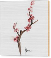 Cherry Blossom Painting Art Print Watercolor Large Poster Wood Print