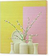 Cherry Blossom Popcorn In Monochromatic Wood Print