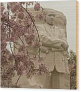 Cherry Blossoms At The Martin Luther King Jr Memorial Wood Print