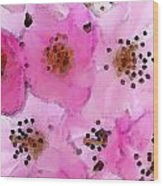 Cherry Blossoms By Sharon Cummings Wood Print by William Patrick