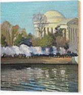 Cherry Blossoms Morning - Washington DC Wood Print