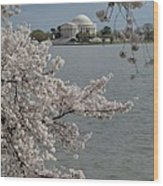 Cherry Blossoms With Jefferson Memorial - Washington Dc - 011321 Wood Print by DC Photographer