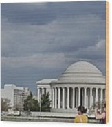 Cherry Blossoms With Jefferson Memorial - Washington Dc - 011341 Wood Print