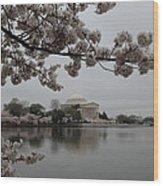 Cherry Blossoms With Jefferson Memorial - Washington Dc - 011343 Wood Print