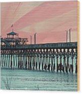 Cherry Grove Fishing Pier Wood Print