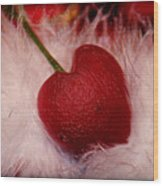 Cherry Heart Wood Print