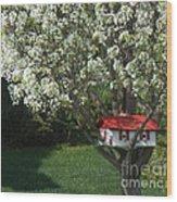 Cherry Home Wood Print