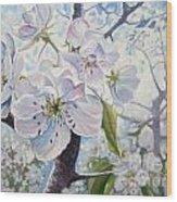 Cherry In Blossom Wood Print by Andrei Attila Mezei