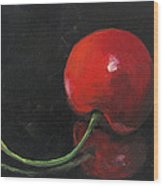 Cherry On Black Wood Print by Torrie Smiley