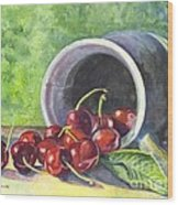 Cherry Pickins Wood Print