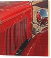 Cherry Red Ford Wood Print