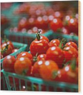 Cherry Tomatoes Wood Print by Caitlyn  Grasso