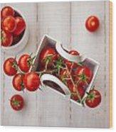 Cherry Tomatoes Wood Print