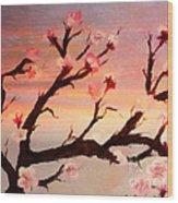 Cherry Tree Expresssive Brushstrokes Wood Print