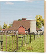 Cherryvale Barn Boulder Wood Print