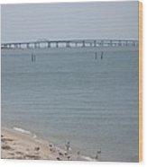 Chesapeake Bay Bridge - Tunnel Wood Print