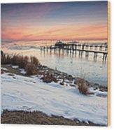 Chesapeake Bay Freeze Wood Print