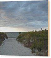 Chesapeake Bay Storm Wood Print