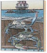 Chesapeake Bounty 1 Wood Print by Jonathan W Brown