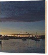 Chesapeake City Twilight Wood Print