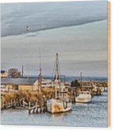 Chesapeake Fishing Boats Wood Print