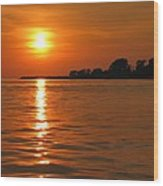 Chesapeake Sun Wood Print