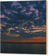 Chesapeake Sunset Clouds Wood Print