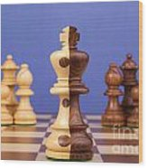 Chess Corporate Merger Wood Print by Colin and Linda McKie