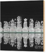 Chess Game Reflection Wood Print