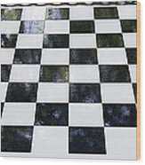Chess In The Park Wood Print
