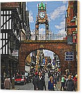 Chester Eastgate Clock Wood Print