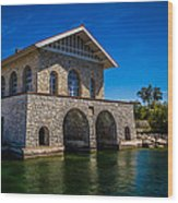 Chester Thordarson Boathouse  Wood Print