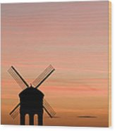 Chesterton Windmill Wood Print by Anne Gilbert