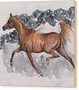 Chestnut Arabian Horse 2014 11 15 Wood Print