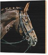 Chestnut Dressage Horse Groomed For A Wood Print