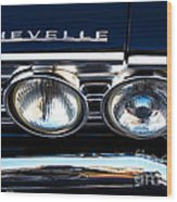 Chevelle Headlight Wood Print