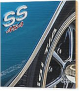 Chevelle Ss 454 Badge Wood Print