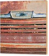 Chevrolet 31 Apache Pickup Truck Grille Emblem Wood Print