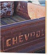 Chevrolet Apache 31 Pickup Truck Tail Gate Emblem Wood Print
