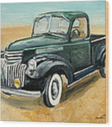 Chevrolet Art Deco Truck Wood Print