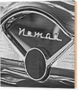 Chevrolet Belair Nomad Dashboard Emblem Wood Print