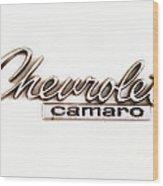 Chevrolet Camaro Emblem Wood Print